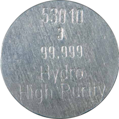 99.999% (5N) high-purity aluminium from Hydro