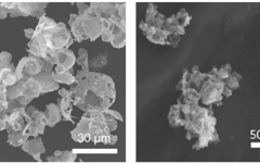 Cerpotech eggshell agglomerates and nanopowder