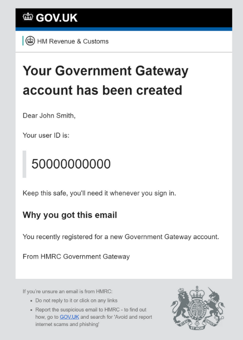 Government Gateway User ID confirmation email.png