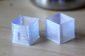 3D printed structures with and without warping