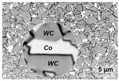 Ceratizit Microstructure image of WC-Co carbide