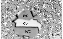 Ceratizit Microstructure image of WC-Co carbide