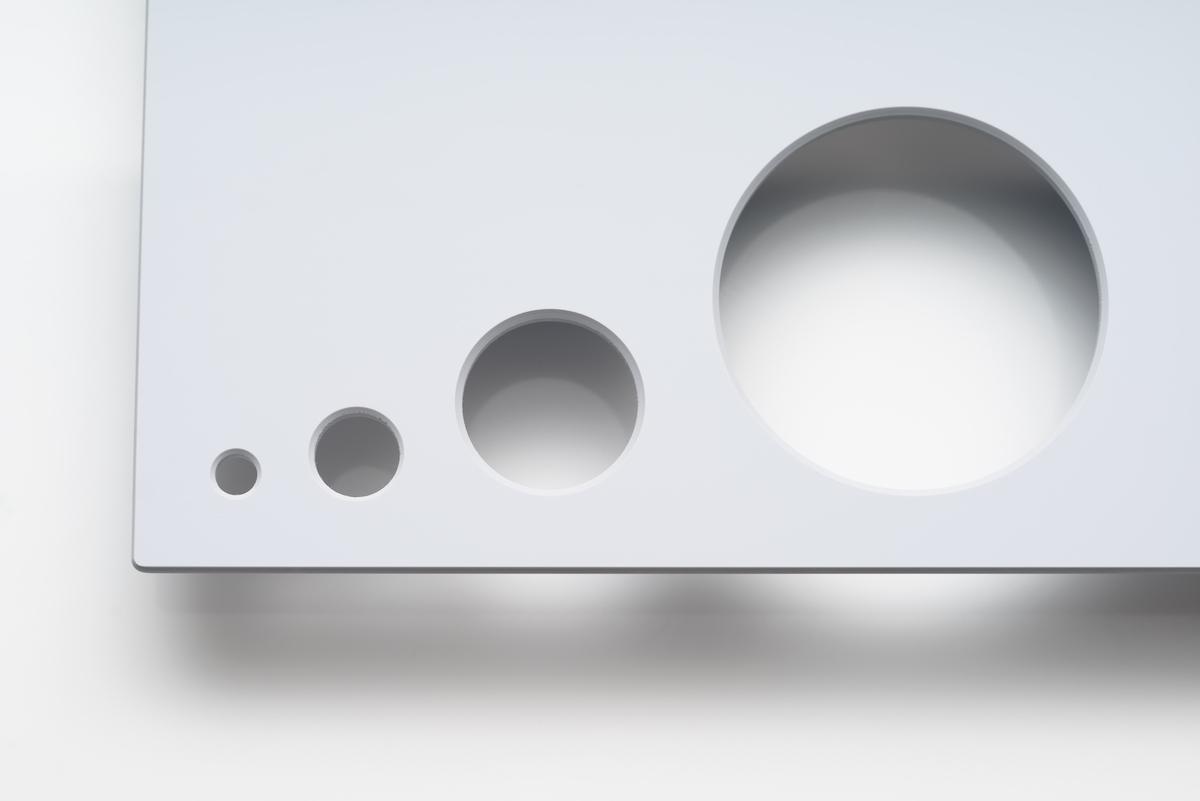 NEXTREMA® Glass Ceramics Opaque Grey Bore Holes
