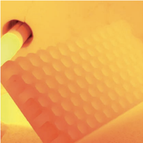 3D printed honeycomb structure of SICAPRINT® Si