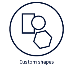 Custom shapes