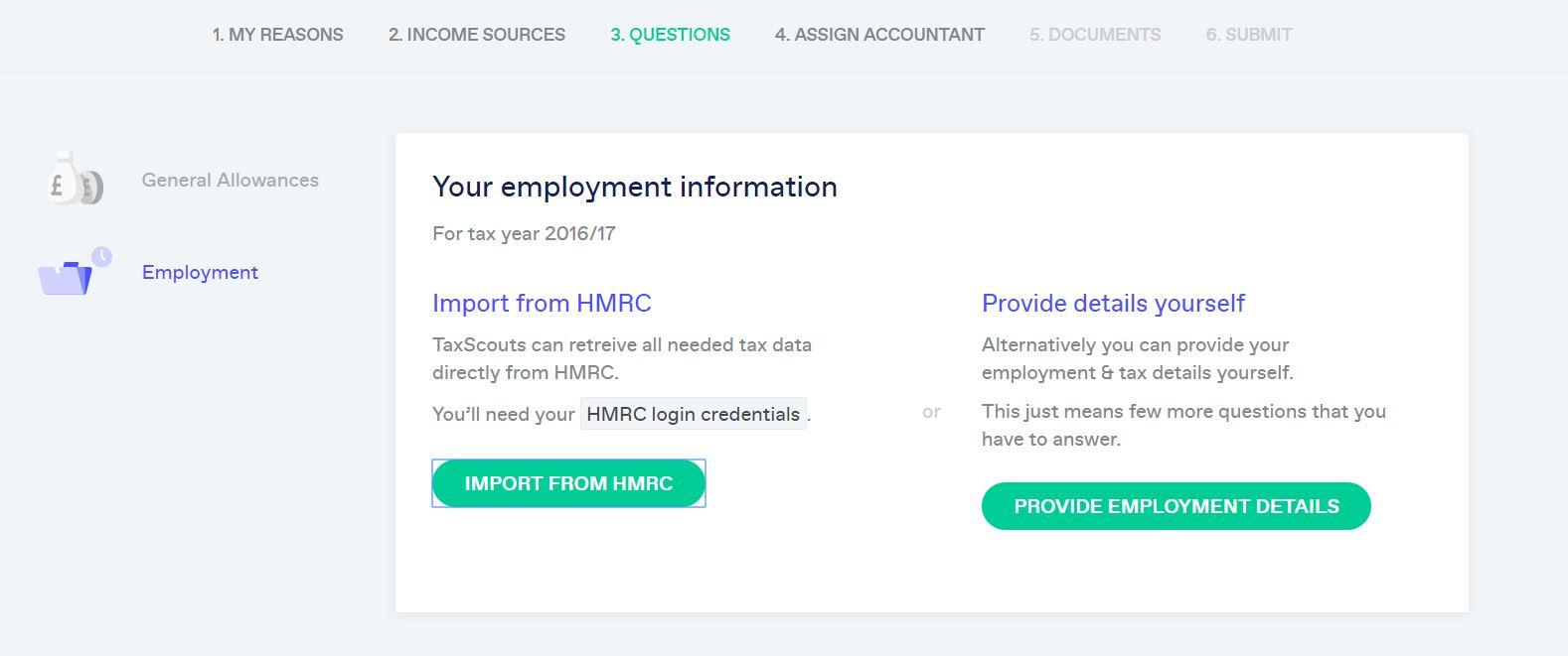 TaxScouts HMRC Import