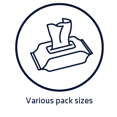 Various pack sizes