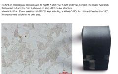 Corrosion properties of CORRODUR 4418 MOD