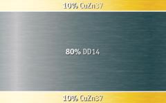 Image of CuZn37 / DD14 / CuZn37 (10-80-10).