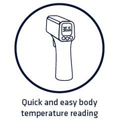 Body temperature reading