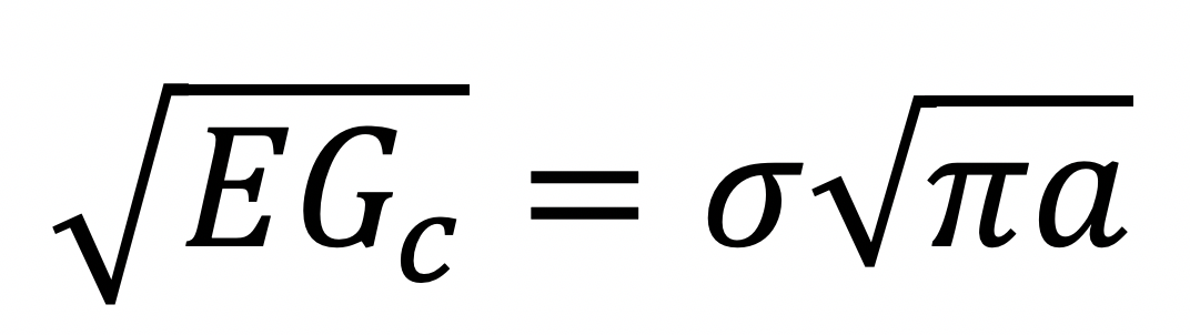 Rearranged fracture equation