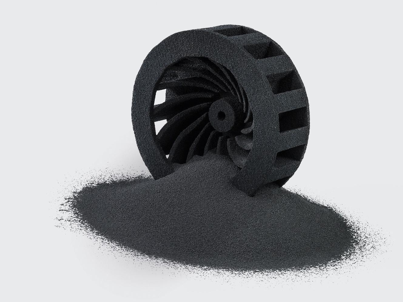 Component made with 3D printing and CARBOPRINT