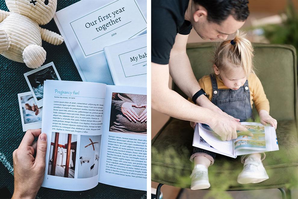 Blader samen door je zwangerschapsdagboek