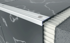 Aluminium stair nosing profiles by Braz Line