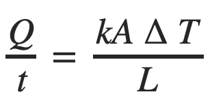 Thermal conduction equation