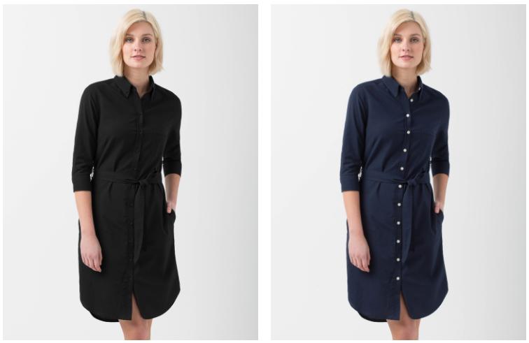 Black & Navy Shirtdress