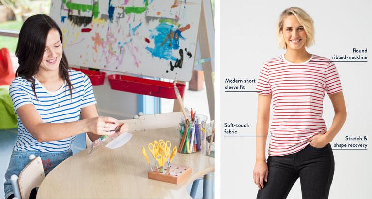 Childcare-Uniform-Riviera-Striped-Top