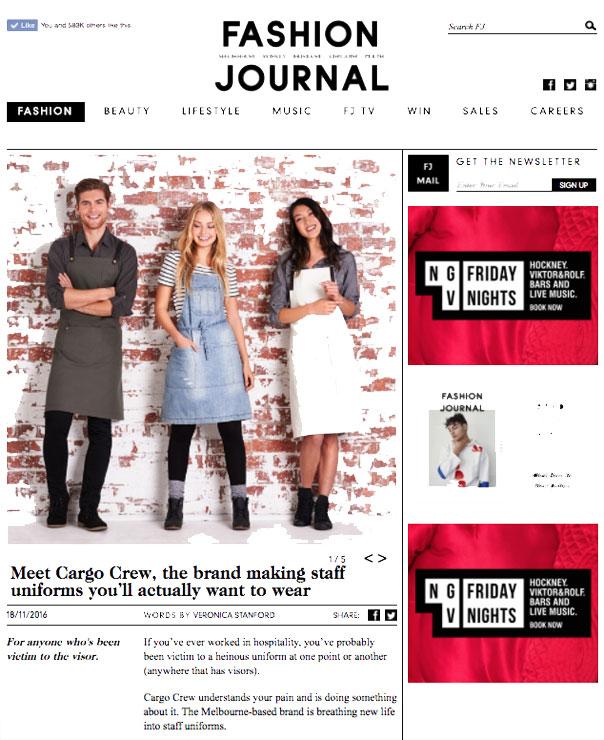 Cargo Crew Press | Fashion Journal 2016