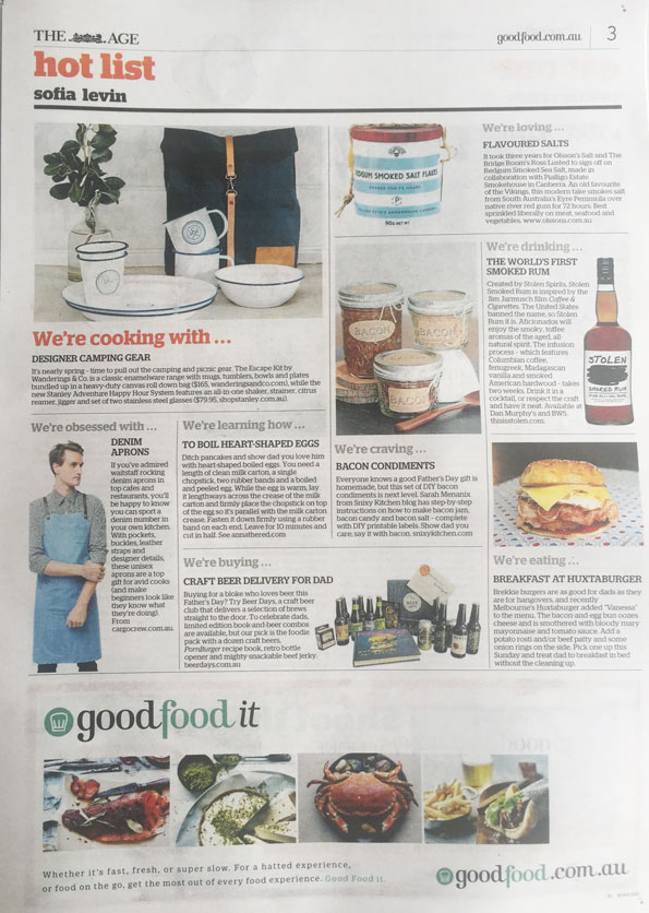 Cargo Crew Press   The Age - Good Food Guide