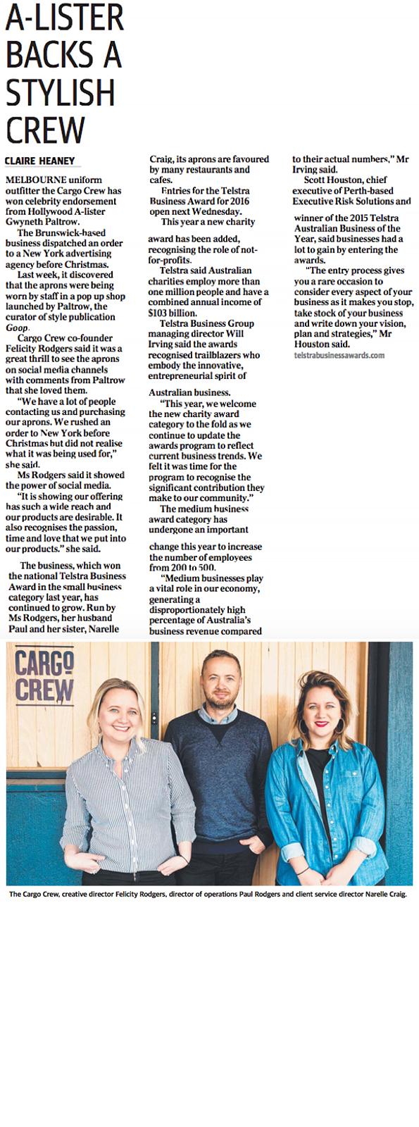 Cargo Crew Press | Herald Sun