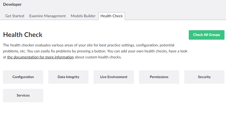 Umbraco health check