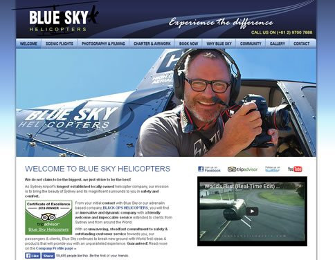 Our work with Blue Sky Helicopters