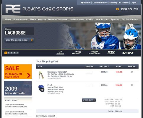 Our work with Players Edge Sports