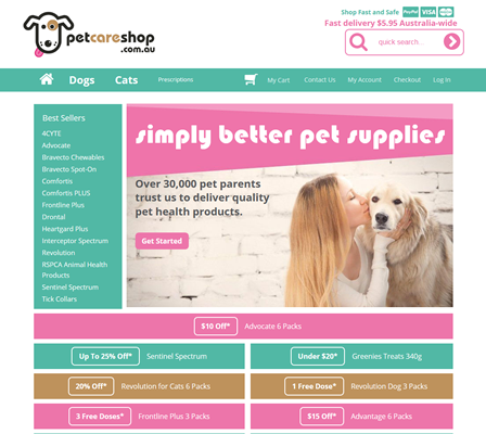 Our work with Pet Care Shop