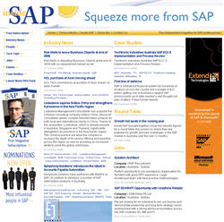 Our work with Inside SAP magazine
