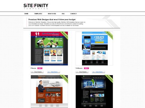Our work with SiteFinity Templates