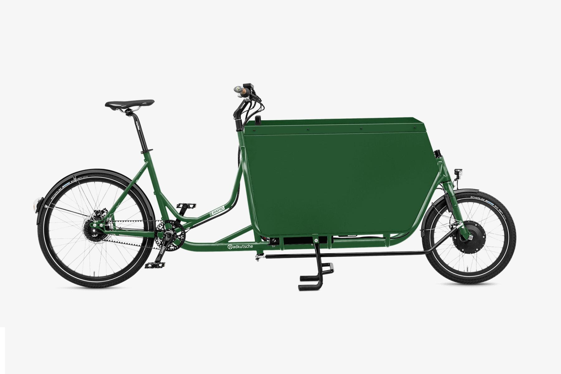 Messenger-Box mit grüner Sonderlackierung - Quelle: radkutsche.de