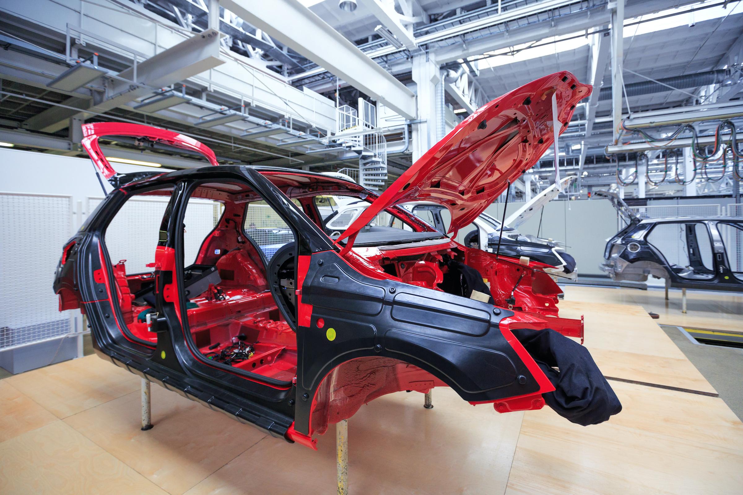 coated car frame