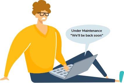 Image with text - Under Maintenance