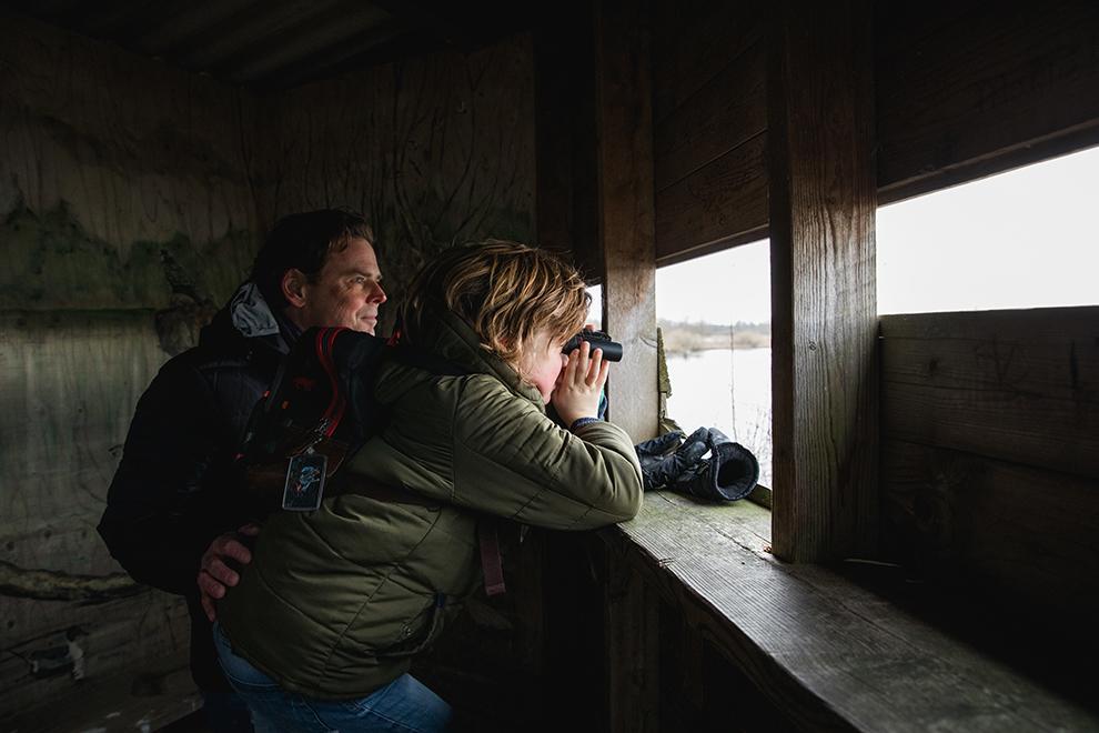 Wilde dieren spotten met verrekijker in de Biesbosch