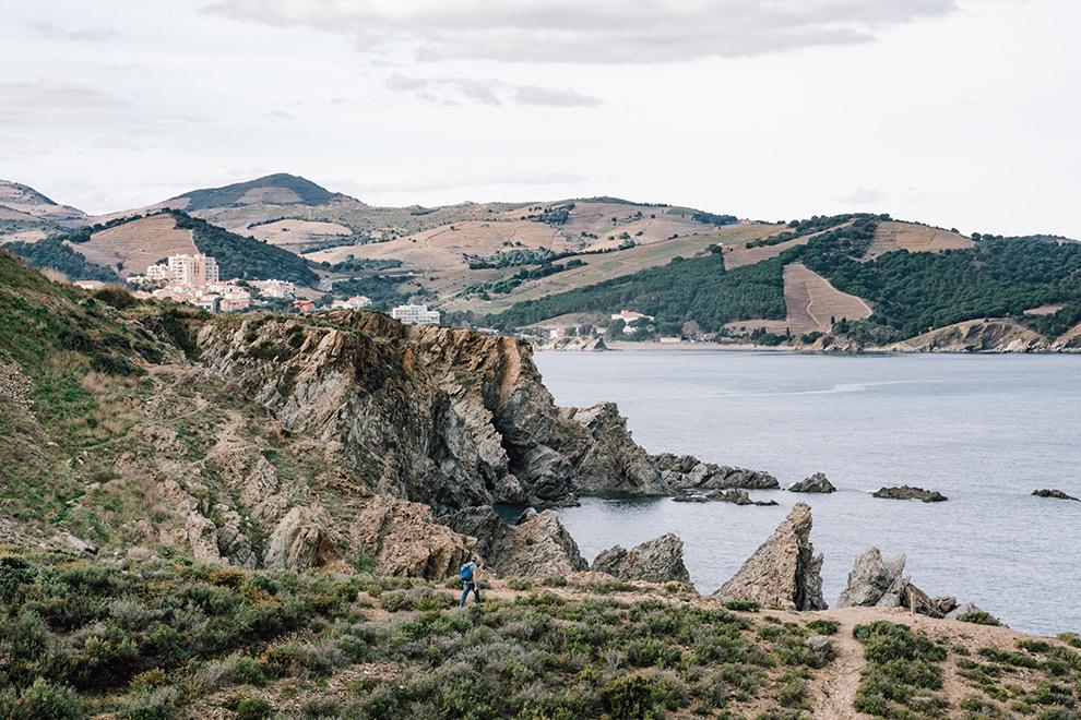Indrukwekkende wandeling langs de kust in Frankrijk