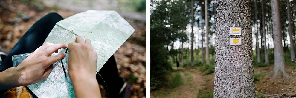 Route berekenen tijdens wandelen in de Transardennaise