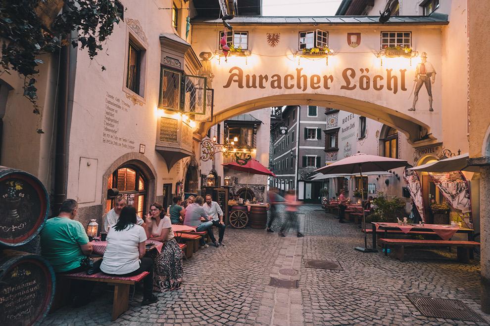 Gezellig Oostenrijks straatje in de binnenstad van Kufstein