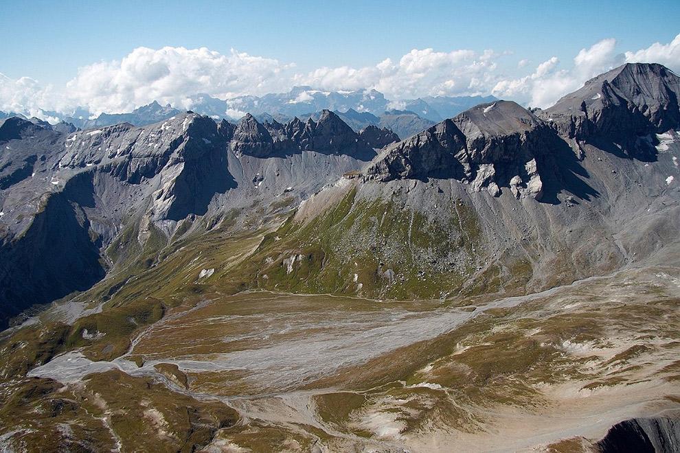Imposante bergpartijen in Tektonikarena Sardona