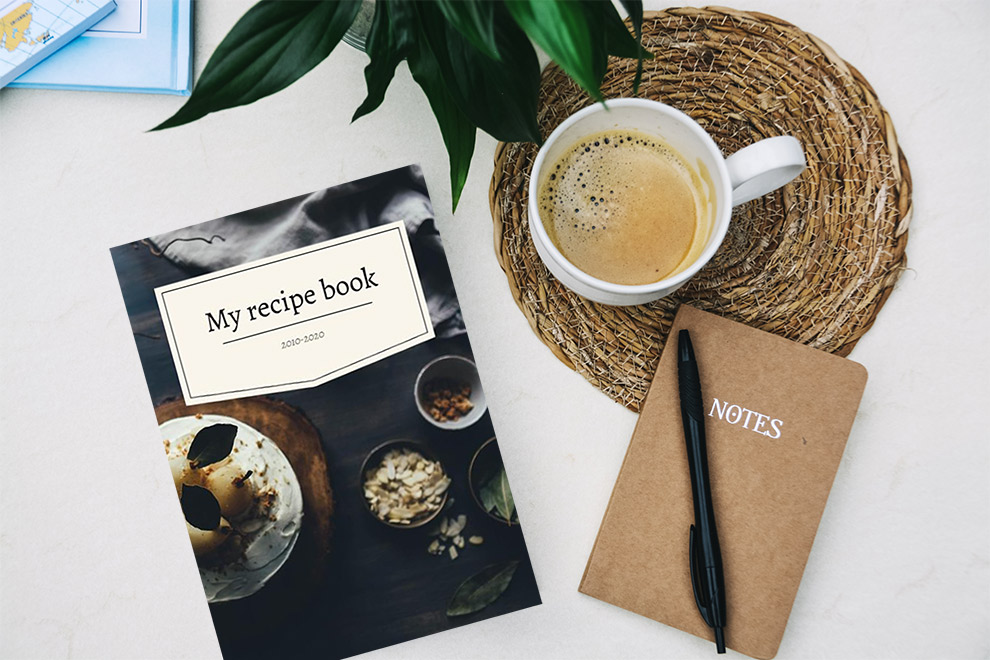 Share your recipes in a self designed diary
