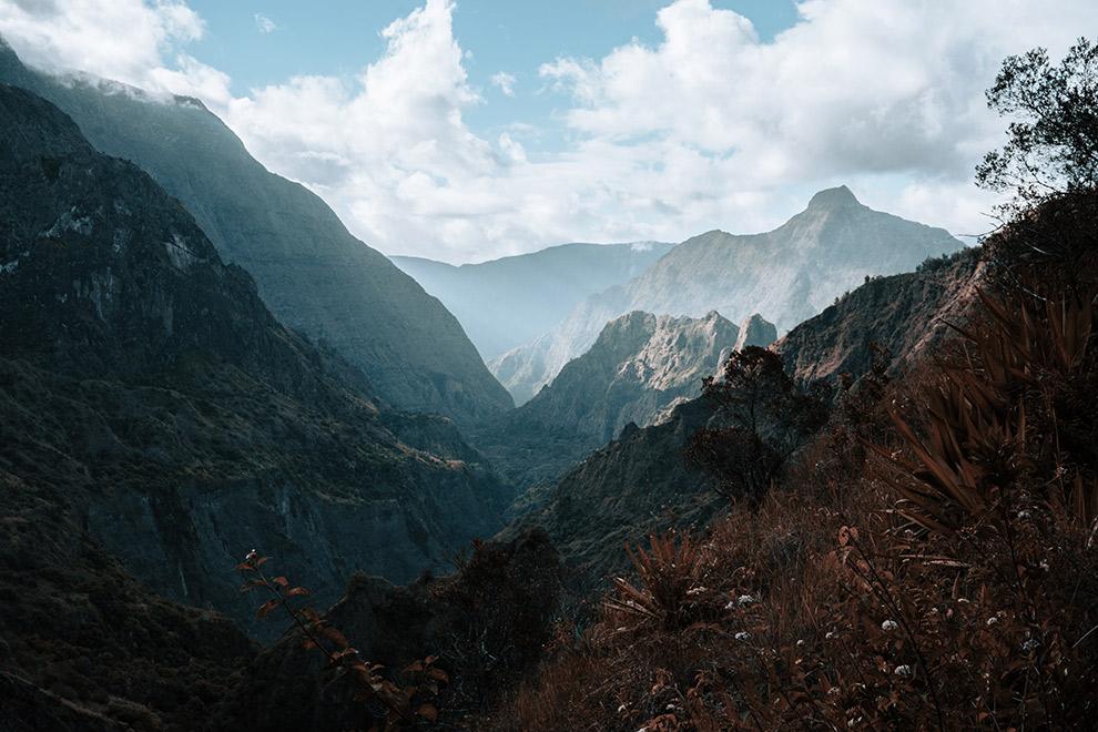 Indrukwekkend berggebied Réunion eiland
