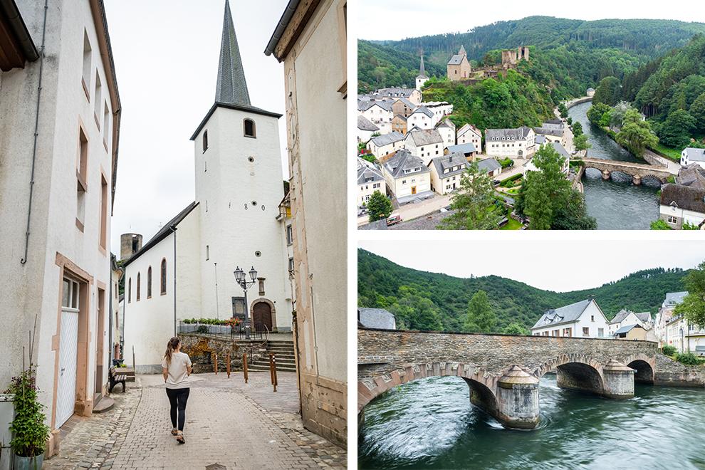 Wandelen door eeuwenoude dorpjes en over stenen bruggetjes in Esch-sur-Sûre