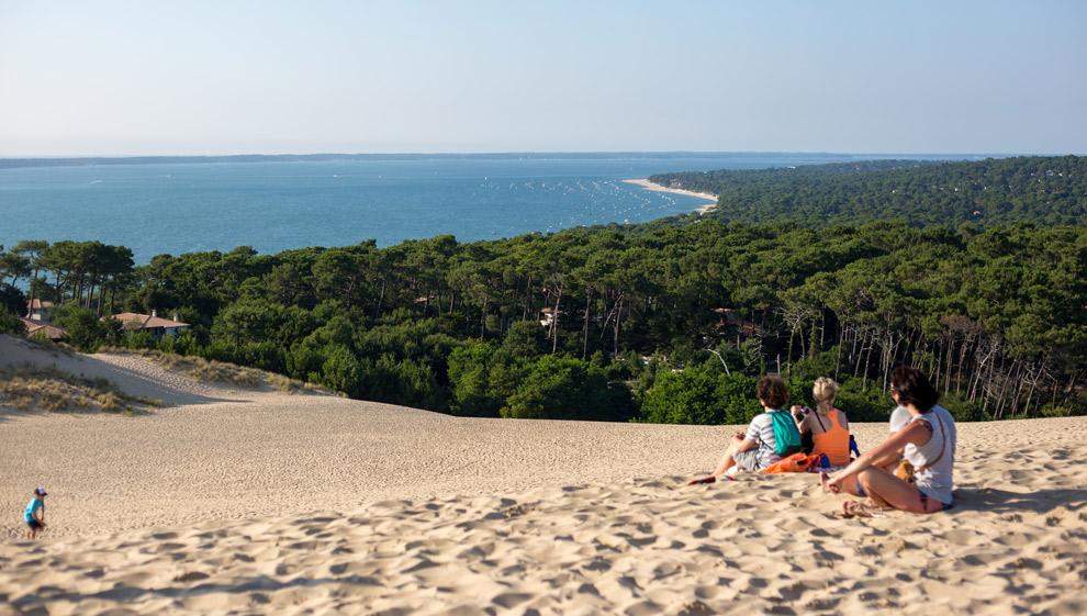 Uitzicht vanaf Dune du Pilat aan de Frans Atlantische kust