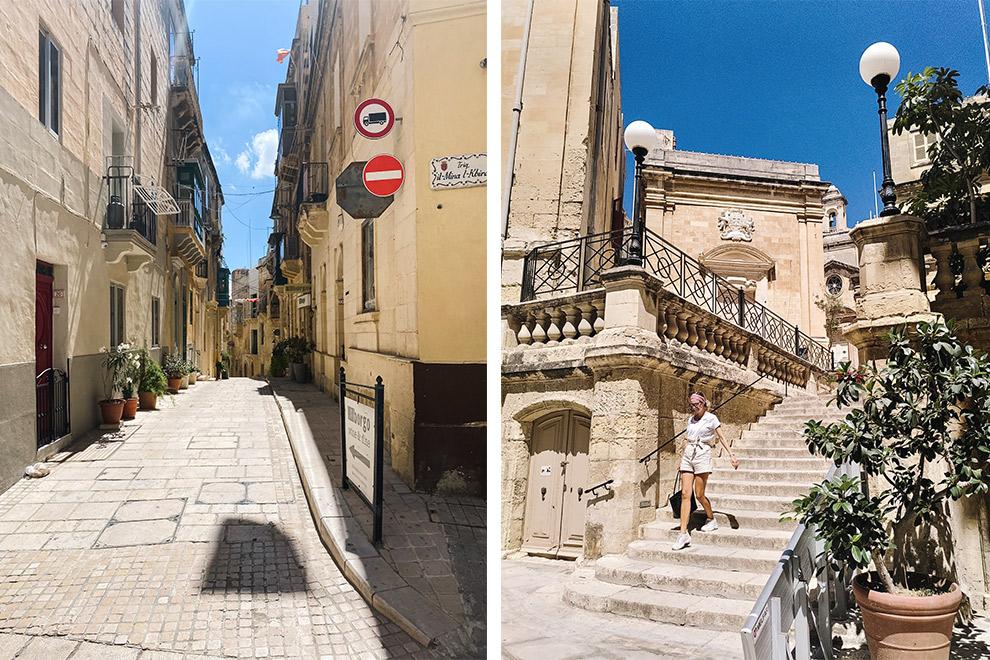 Het mediterrane straatbeeld van Vittoriosa