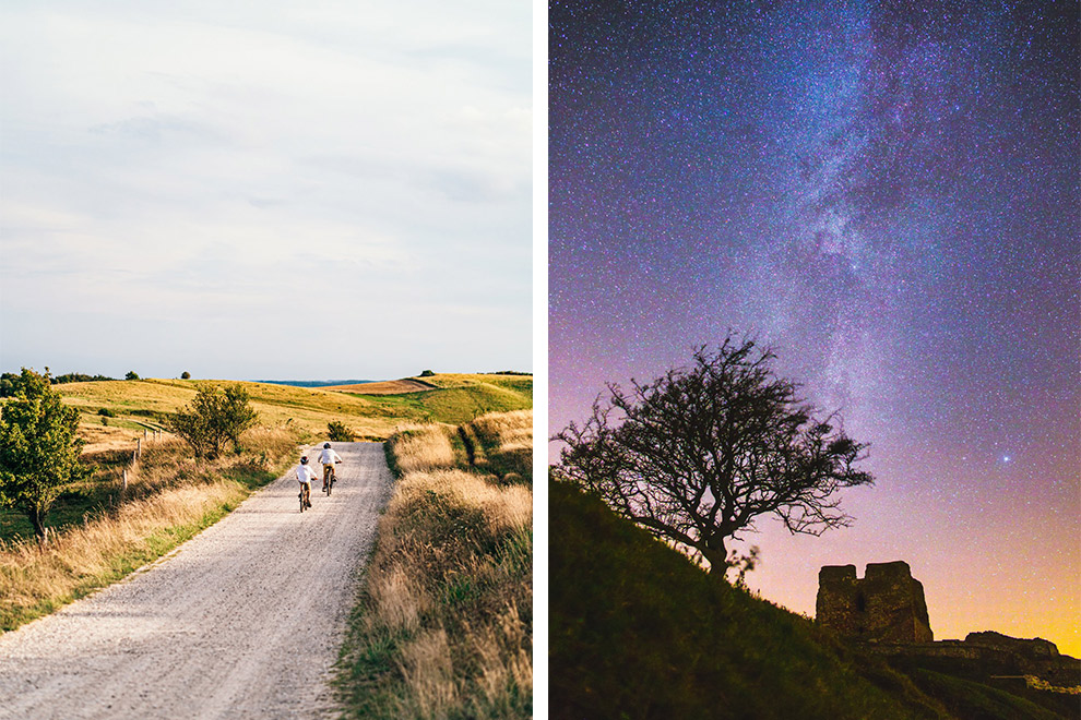 De Mols Bjerge Trail bij dag en nacht