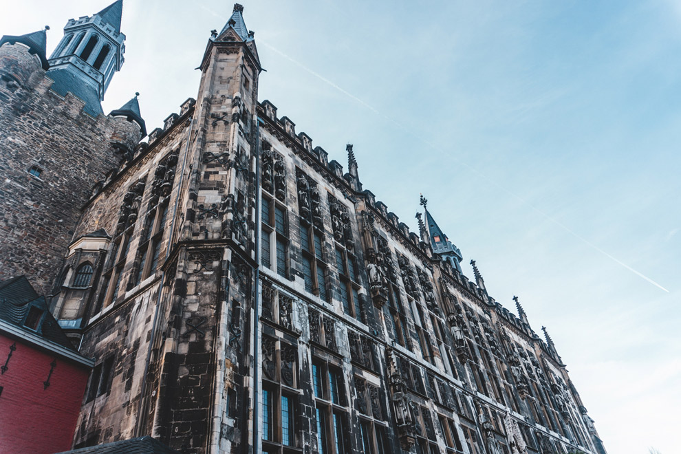Uitzicht op de Dom van Aachen