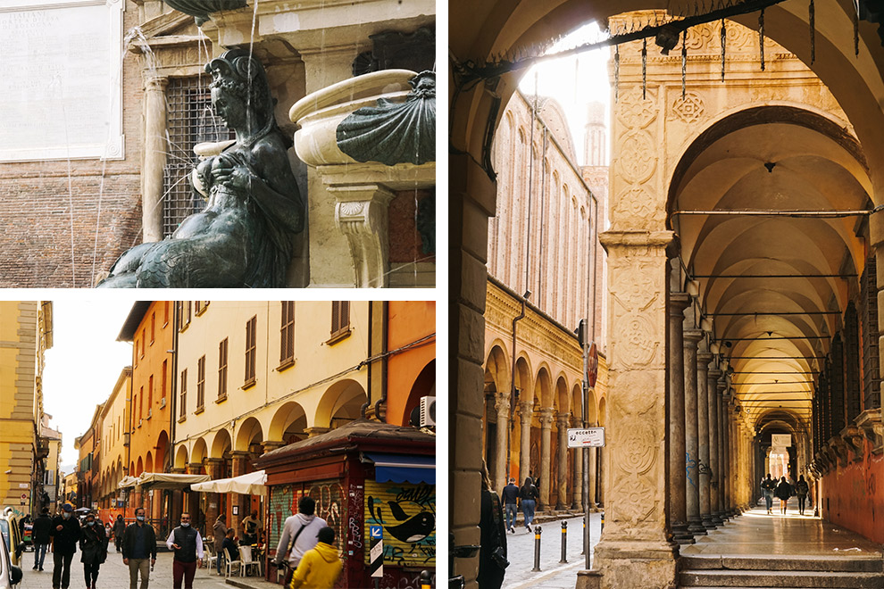 Het culturele hart van Bologna tussen de galerijen