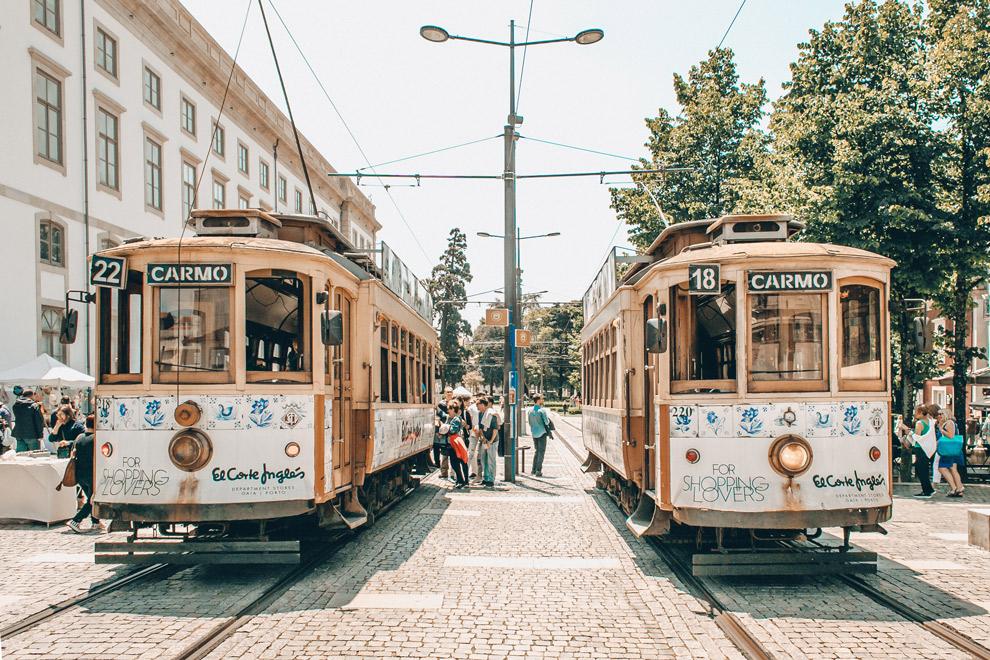 Beroemde Portuguese trammetjes in Porto