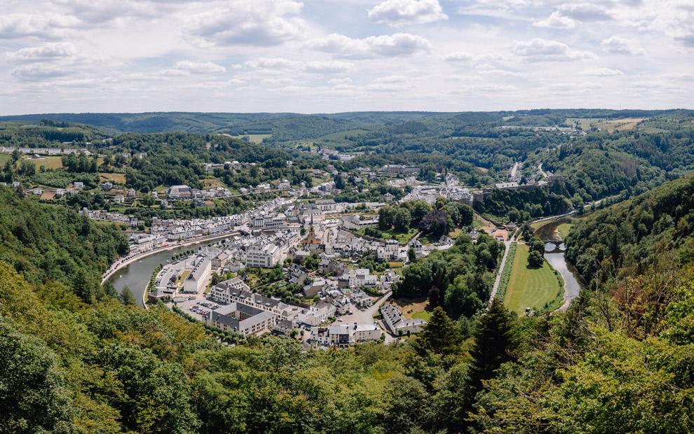 Uitzicht over Bouillon
