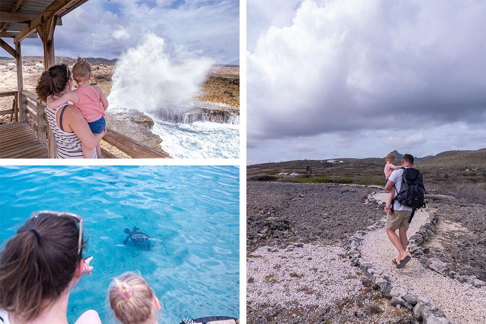 De wilde natuur van Curaçao ontdekken met dochter Maeve