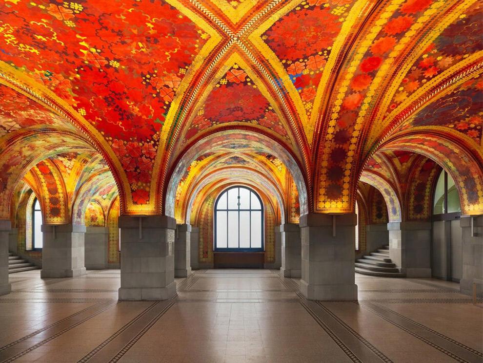 Muurschilderingen Giacometti Hall
